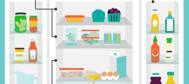 Refrigerator Storage Infographic | Speedy Refrigerator Service
