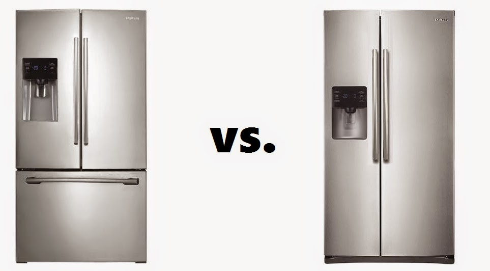 french door vs side by side refrigerators. Black Bedroom Furniture Sets. Home Design Ideas