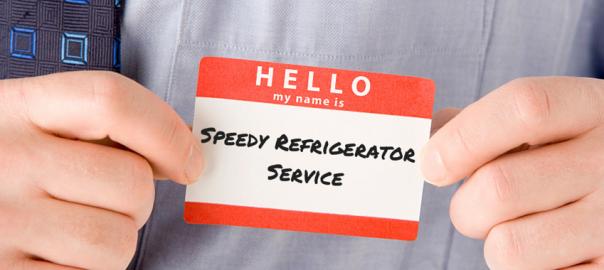 Speedy Refrigerator Service Name Tag