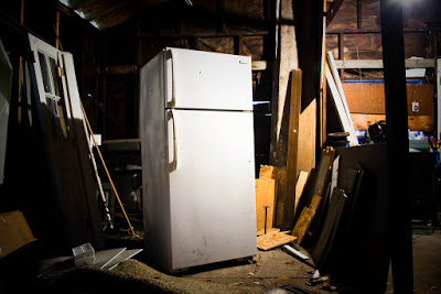 Old Refrigerator in Garage | Refrigerator Repairs Long Island