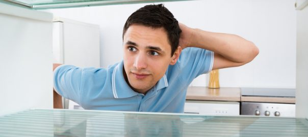 Man Looking Into Empty Fridge | Refrigerator Service Long Island